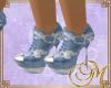 M blue jeans shoes