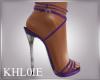 K Tiff purple heels