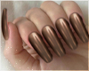 Brown Coffin Nails