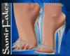 SF/Aqua-silver Heels