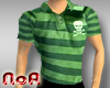 StripedPoloW.Skull/Green
