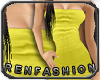 $R Lemon Tube Dress