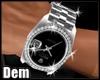 !D! Silver Royal Watch