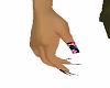 unghie di rose blue