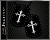 S~ BLACK CROSS TAGS