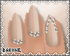 B| Nails Nude Diamonds
