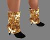 {LA} Gold black boots