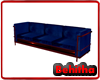 Blue Red Simple Sofa