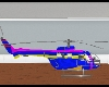 blue and pink helicopter