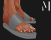 T+M   Grey Sandals
