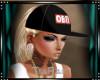 {CV}Obey hat ponytail bl
