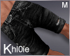 K black hean shorts M