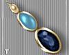 Multi Blue Earrings