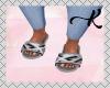 L. Fur Grey Slides
