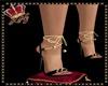 llKNZ*Gold Black heels