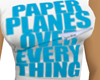 Girl*blue paper planes*t