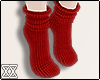 ☾ Red socks