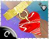 .C Ruby Heart Bracelet L