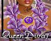 [QD7]Lei Purple/Gld