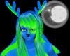 blue-green antlers