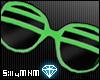 =D shutter shades: green
