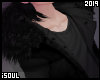 f| Black fur coat