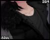 ♦| Black fur coat