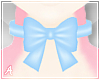 A| L. Blue Bow Choker