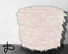 ♚ Fur stool creamy