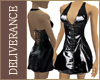 DN Vinyl Minidress Black