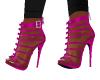 Zipper Pink Heels