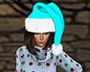 Light Blue Santa Hat (F)
