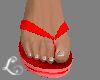 xo*Men Red FlipFlops