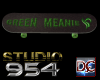 S954 Sk8 Green Meanie
