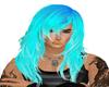 long ice blue hair