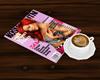 Magazine and Latte