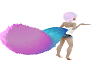 Blue Pink Fluffy Tail