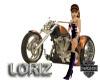 LoriZ Motorcycle Sticker