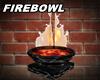 Firebowl Marble black