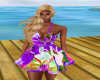 Purple Tropic City Dress