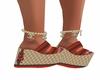 Red Snake Flip Flops