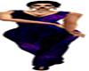 Purple Black Pants Suit