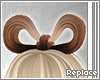 . hair bow   latte