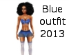 blue outfit 2013