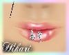 Diamond Spiral Lip Ring