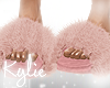 Rose Gold Fur Slippers