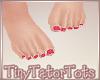 Kids Bare Feet Hot Pink