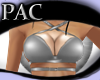 *PAC* Strapped Top Gray