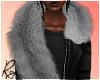 Silver Faux Fur Stole