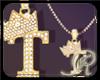 R  T gold Dm necklace